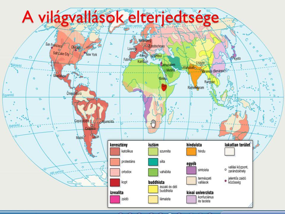 A világvallások elterjedtsége