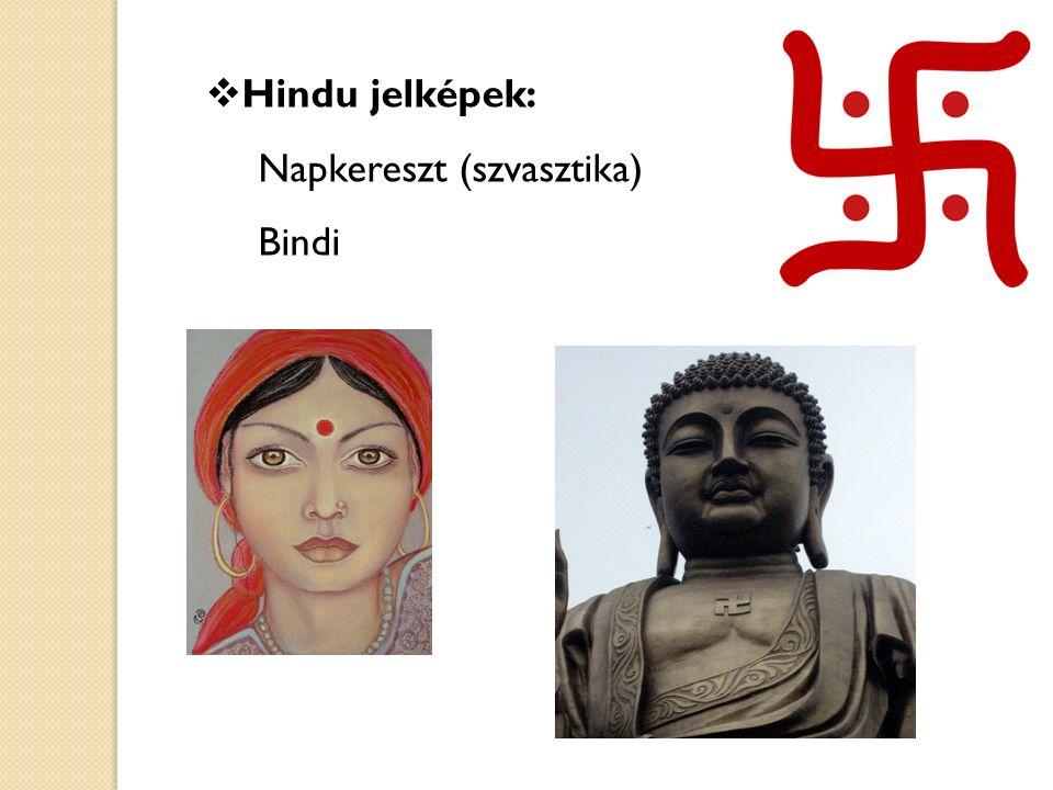 Hindu jelképek: Napkereszt (szvasztika) Bindi