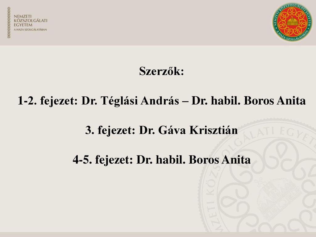 1-2. fejezet: Dr. Téglási András – Dr. habil. Boros Anita