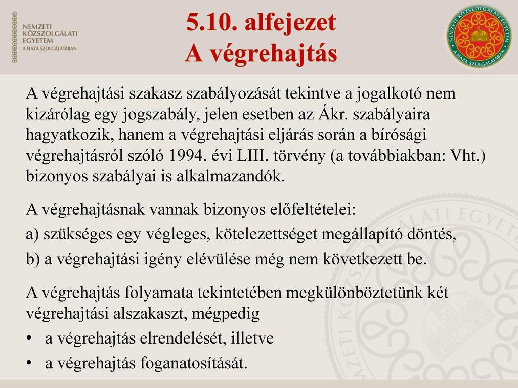5.10. alfejezet A végrehajtás