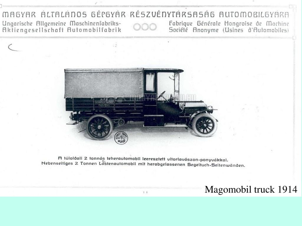 Magomobil truck 1914