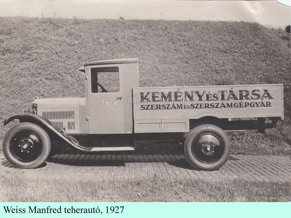 Weiss Manfred teherautó, 1927