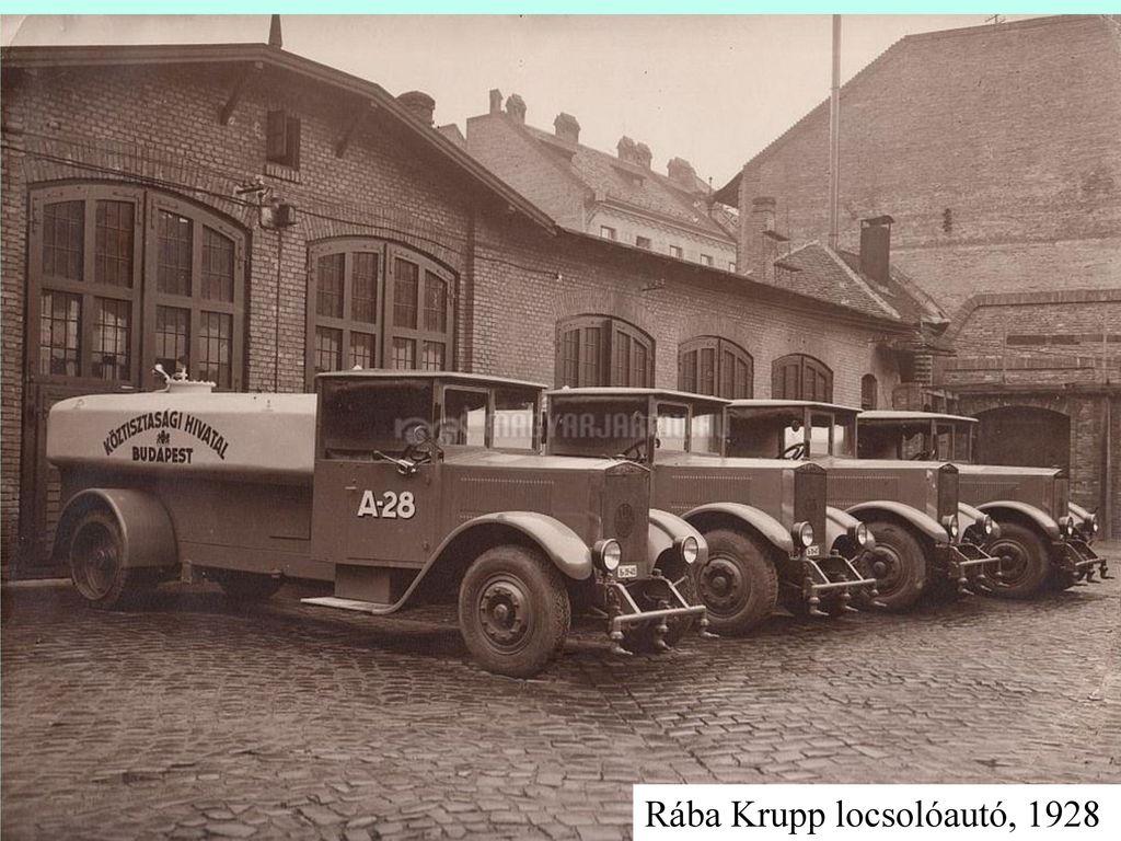 Rába Krupp locsolóautó, 1928
