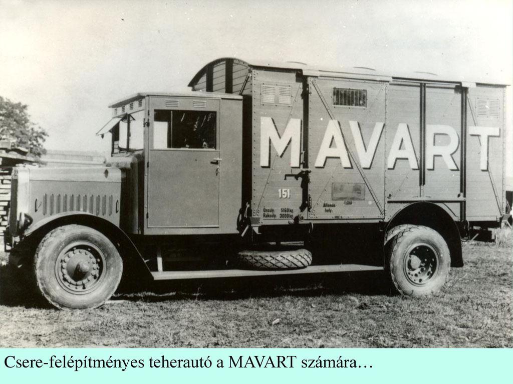 Csere-felépítményes teherautó a MAVART számára…
