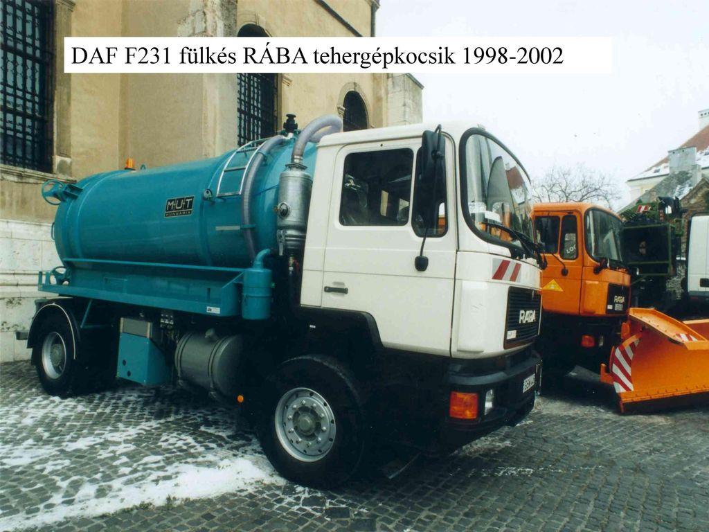 DAF F231 fülkés RÁBA tehergépkocsik 1998-2002