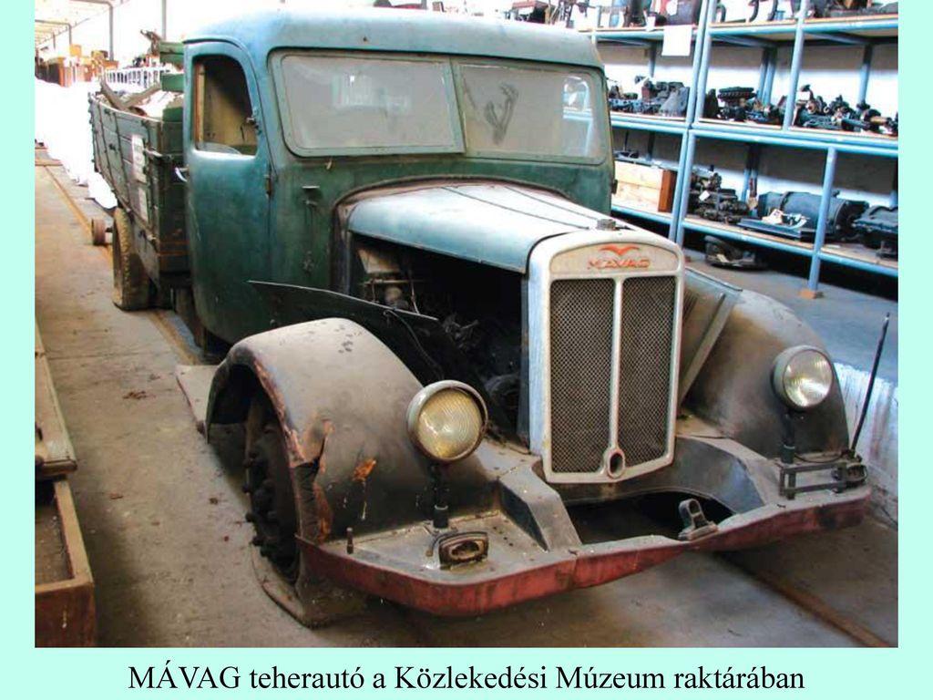 MÁVAG teherautó a Közlekedési Múzeum raktárában