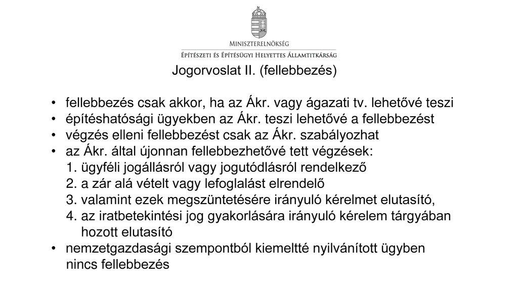 Jogorvoslat II. (fellebbezés)