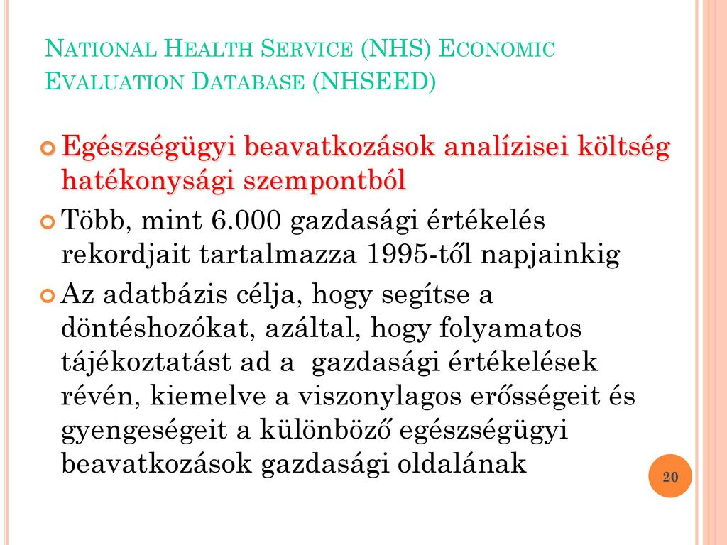 economic evaluation in the national health service nhs The national health service is built on the bentham's concept of utilitarianism of  maximising 'utility' for greatest number (lockwood,1988),.