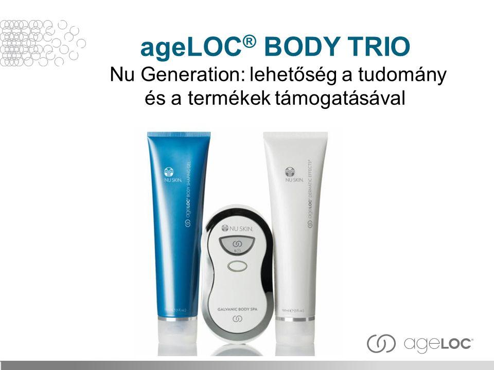 ageLOC® BODY TRIO Nu Generation: lehetőség a tudomány és a termékek támogatásával