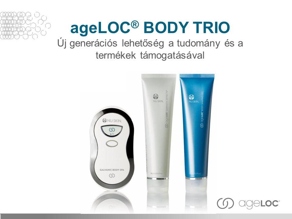 ageLOC® BODY TRIO Új generációs lehetőség a tudomány és a termékek támogatásával