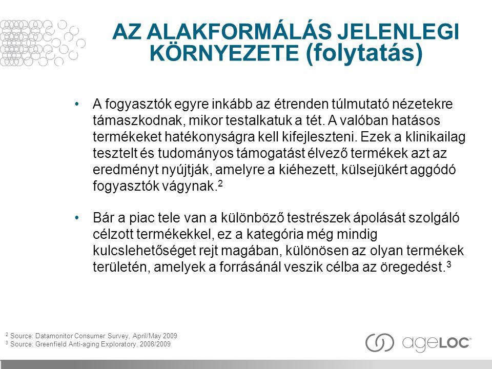 AZ ALAKFORMÁLÁS JELENLEGI KÖRNYEZETE (folytatás)