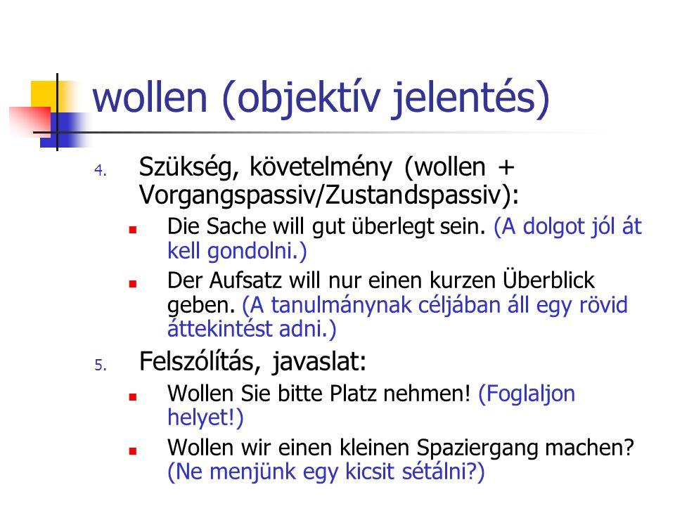 wollen (objektív jelentés)