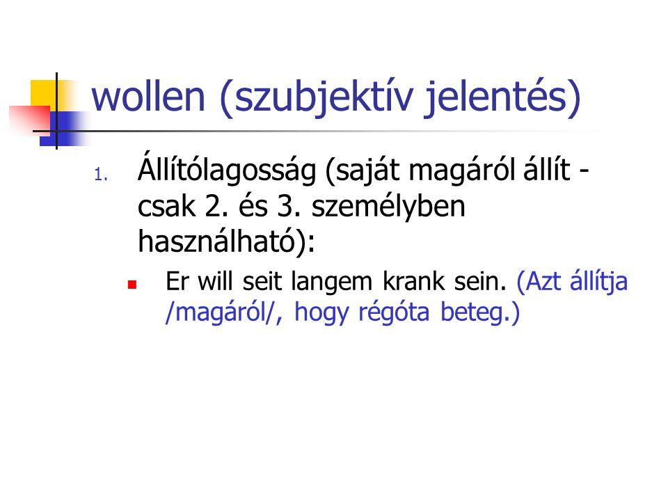 wollen (szubjektív jelentés)