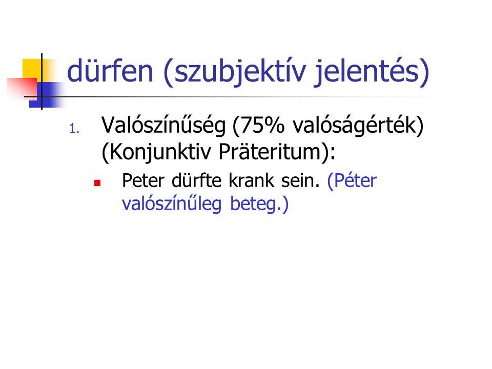 dürfen (szubjektív jelentés)