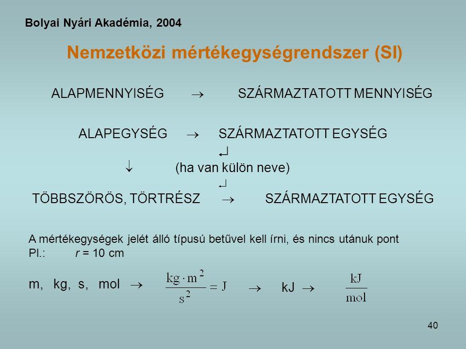 Nemzetközi mértékegységrendszer (SI)
