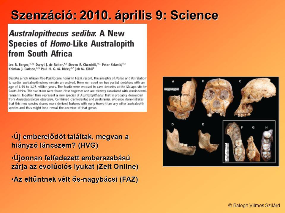 Szenzáció: 2010. április 9: Science