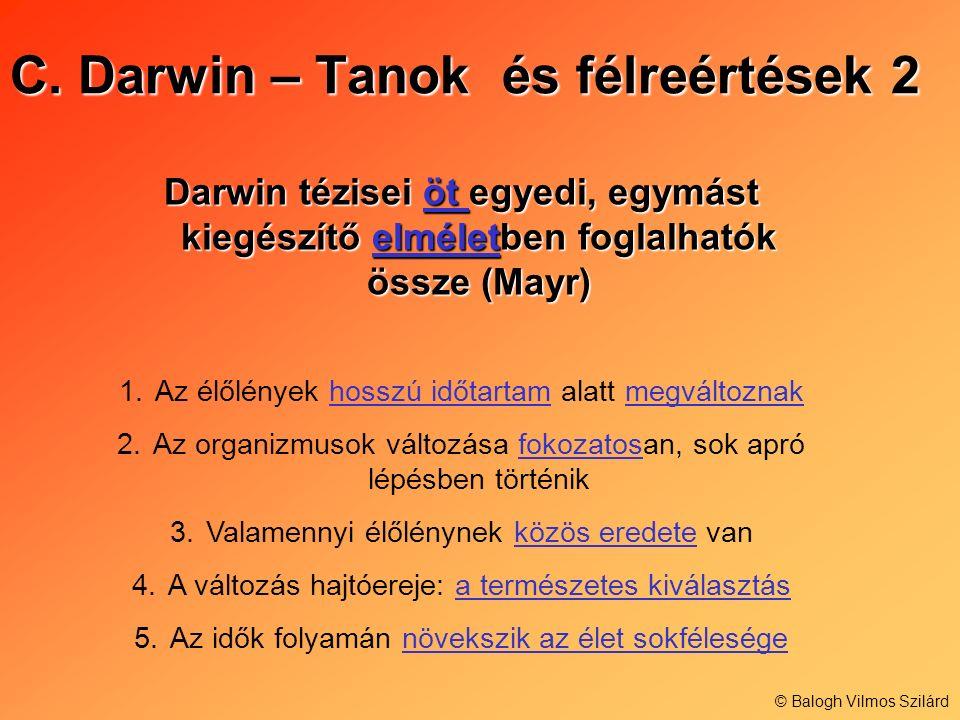 C. Darwin – Tanok és félreértések 2