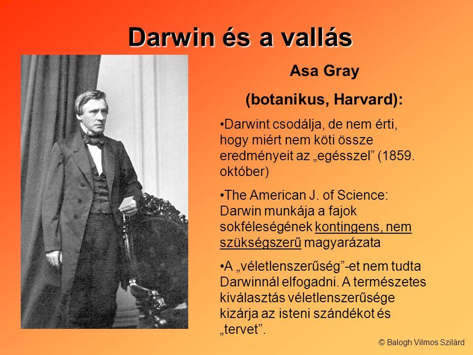 Darwin és a vallás Asa Gray (botanikus, Harvard):