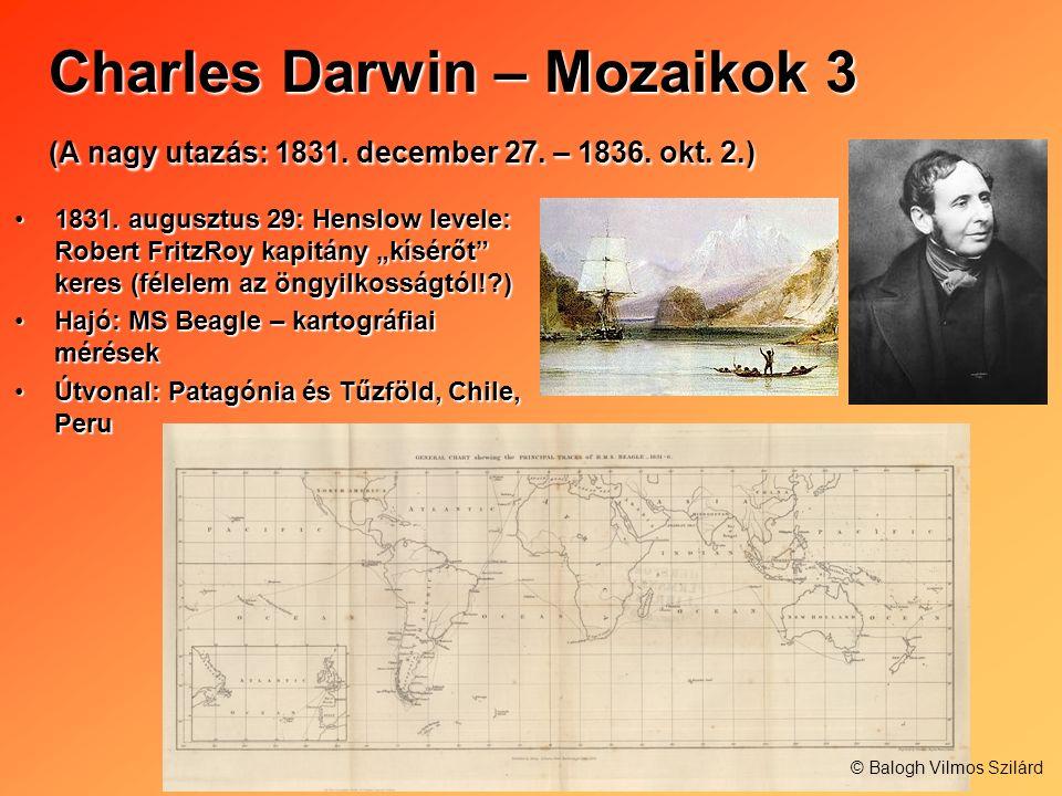 Charles Darwin – Mozaikok 3 (A nagy utazás: 1831. december 27. – 1836