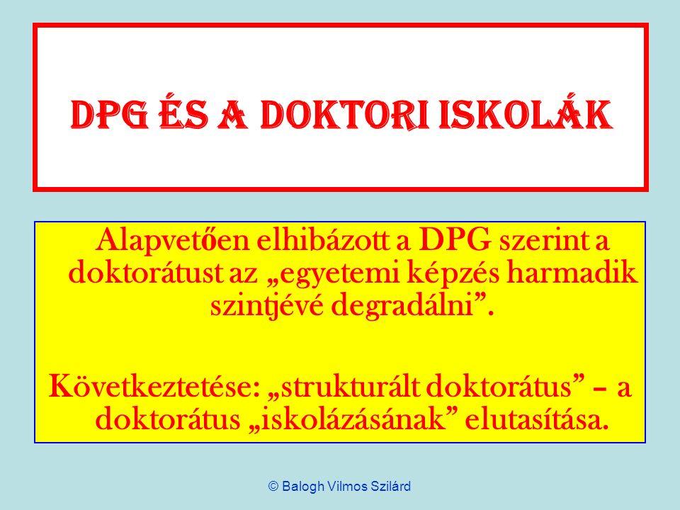 DPG és a doktori iskolák