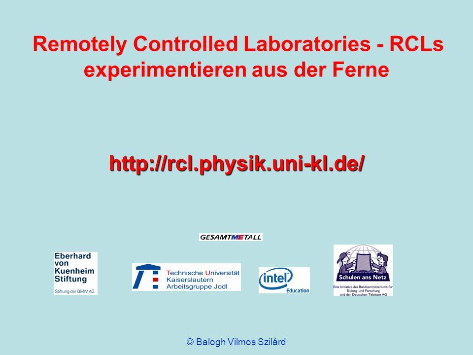Remotely Controlled Laboratories - RCLs experimentieren aus der Ferne