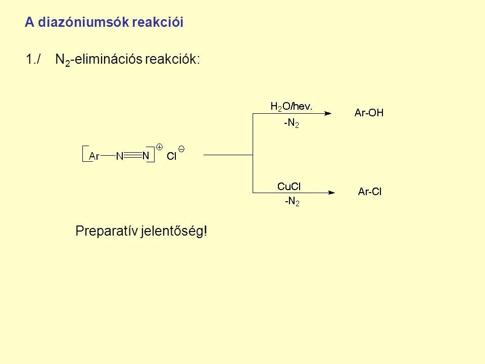 A diazóniumsók reakciói