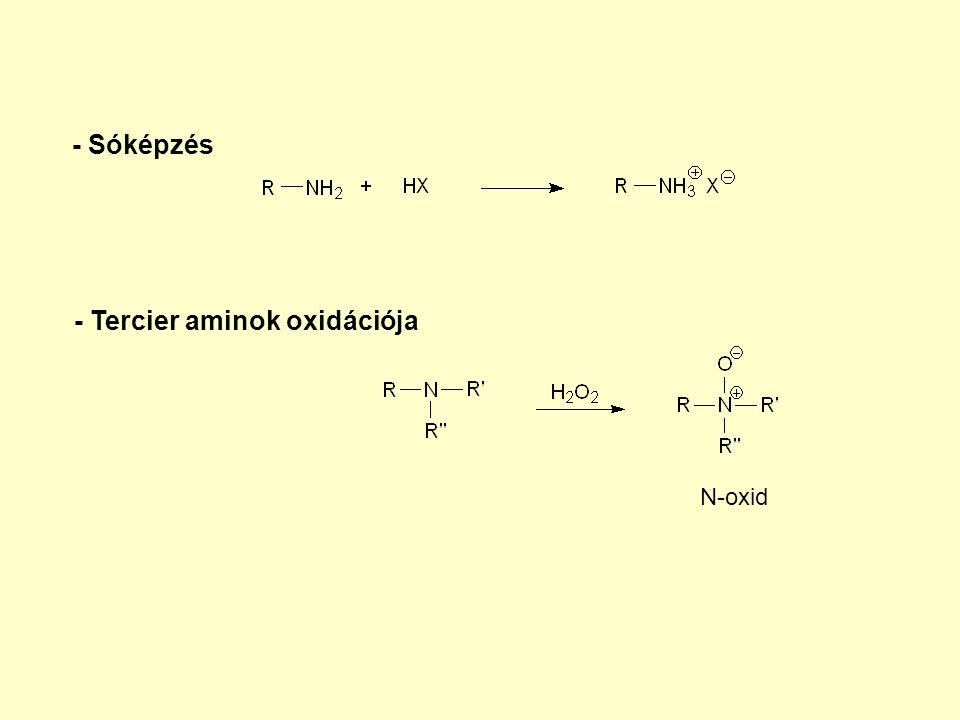 - Tercier aminok oxidációja