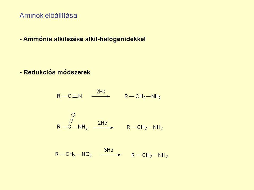 Aminok előállítása - Ammónia alkilezése alkil-halogenidekkel