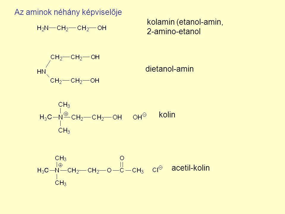 Az aminok néhány képviselője