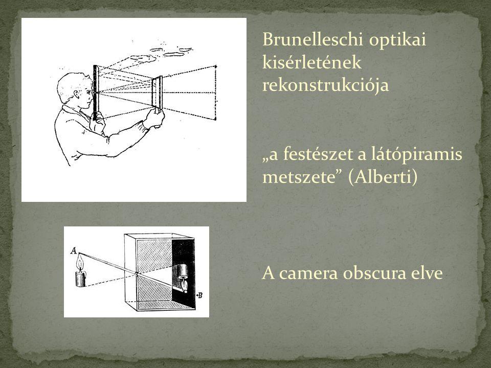 Brunelleschi optikai kisérletének rekonstrukciója