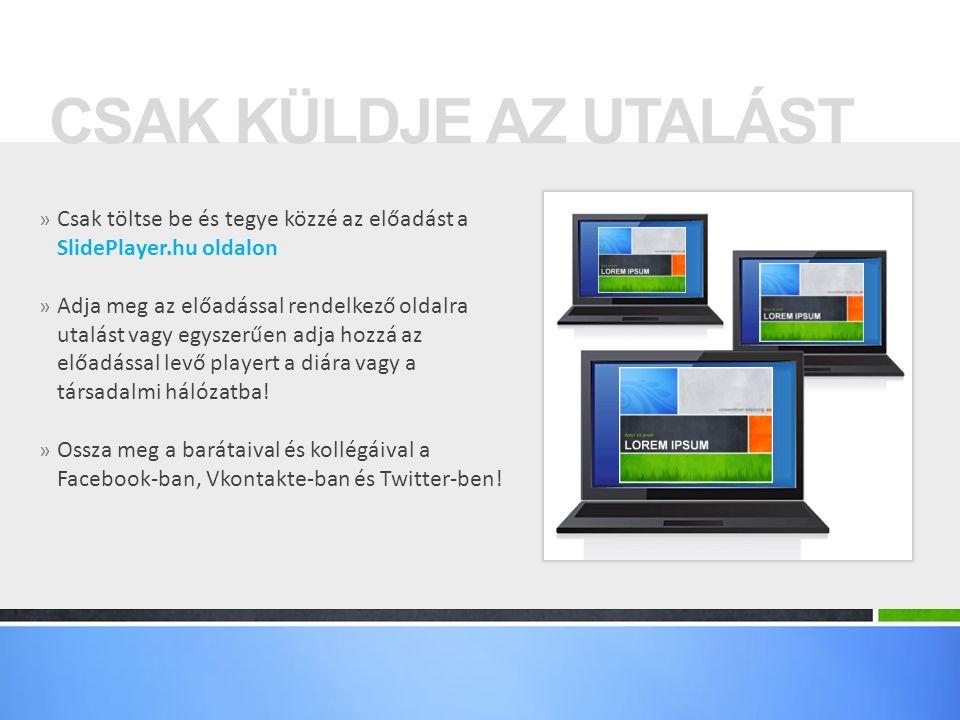 CSAK KÜLDJE AZ UTALÁST Csak töltse be és tegye közzé az előadást a SlidePlayer.hu oldalon.