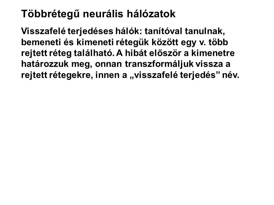 Többrétegű neurális hálózatok