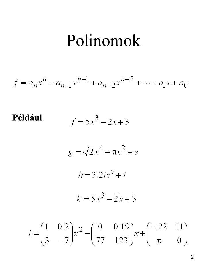 Polinomok Például