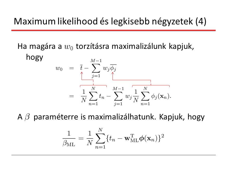 Maximum likelihood és legkisebb négyzetek (4)