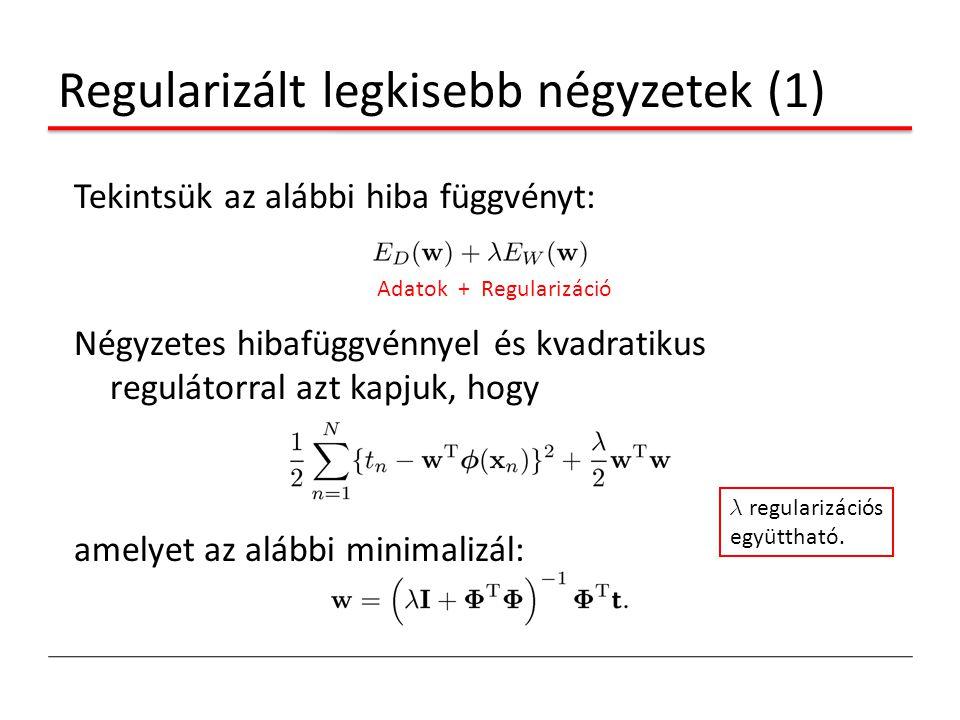 Regularizált legkisebb négyzetek (1)
