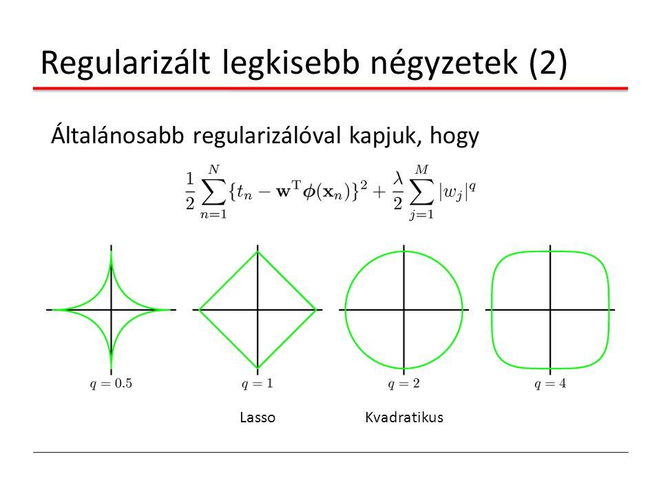 Regularizált legkisebb négyzetek (2)