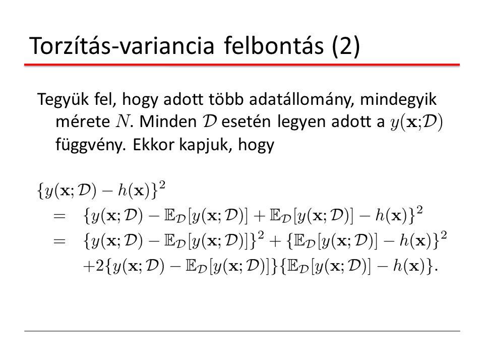 Torzítás-variancia felbontás (2)