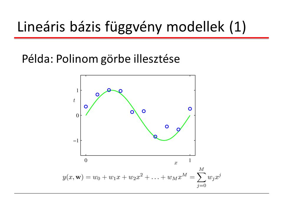 Lineáris bázis függvény modellek (1)