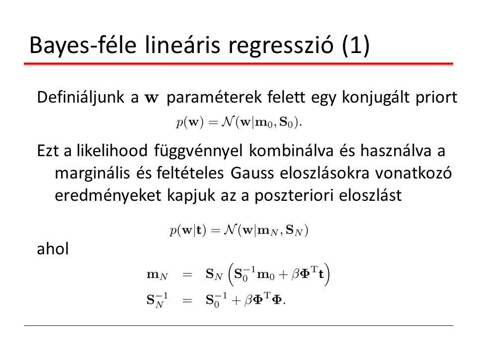 Bayes-féle lineáris regresszió (1)