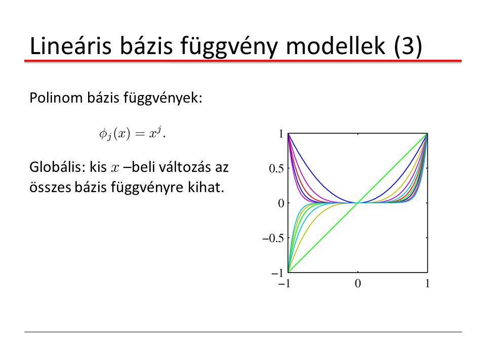 Lineáris bázis függvény modellek (3)