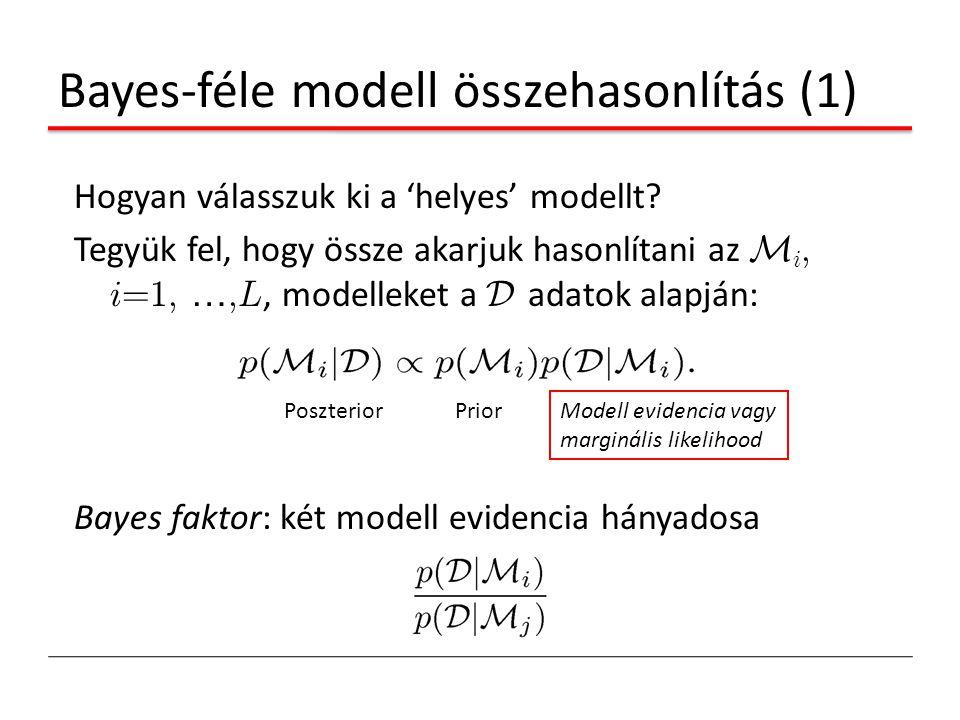 Bayes-féle modell összehasonlítás (1)