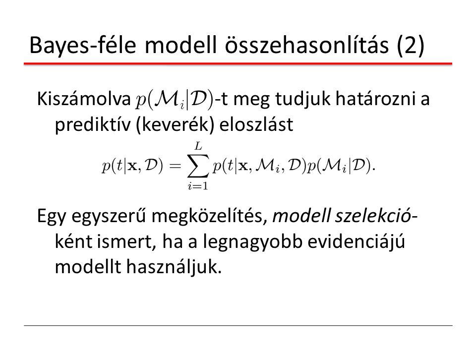 Bayes-féle modell összehasonlítás (2)