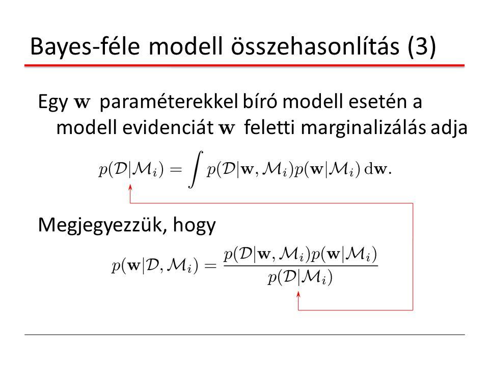 Bayes-féle modell összehasonlítás (3)