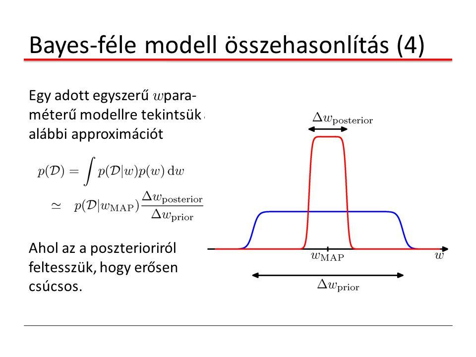 Bayes-féle modell összehasonlítás (4)