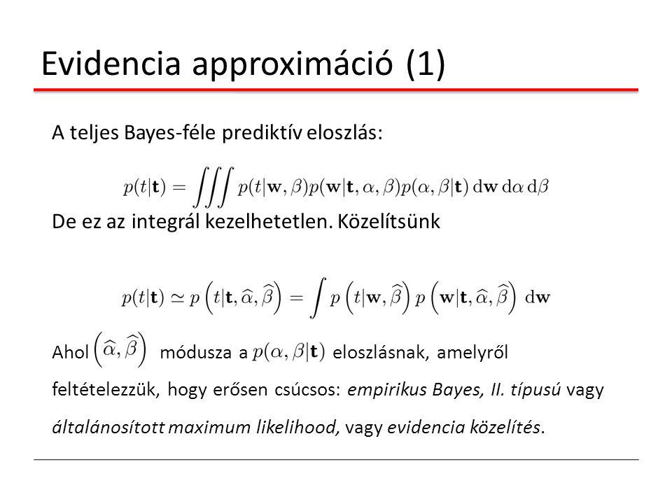 Evidencia approximáció (1)