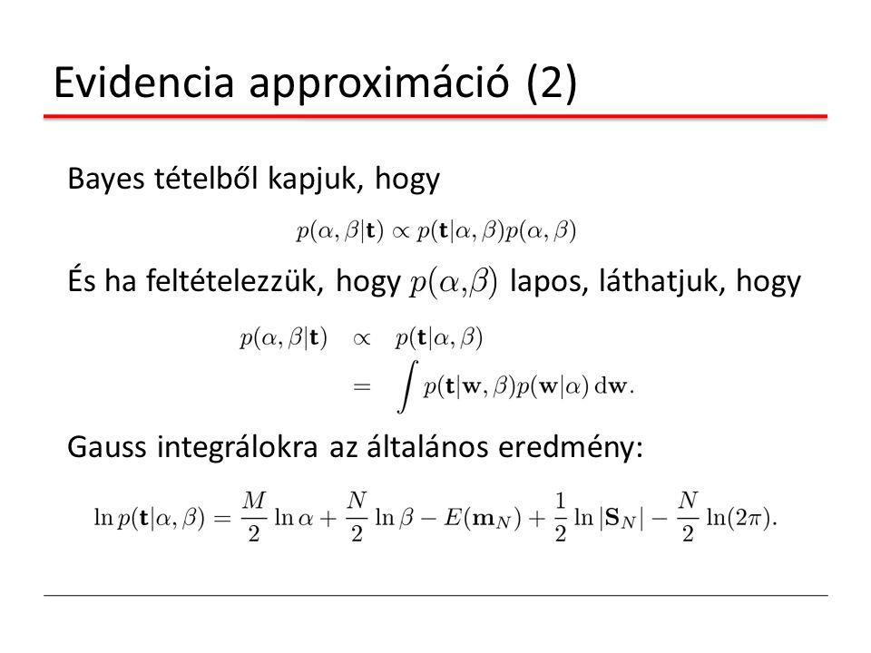 Evidencia approximáció (2)