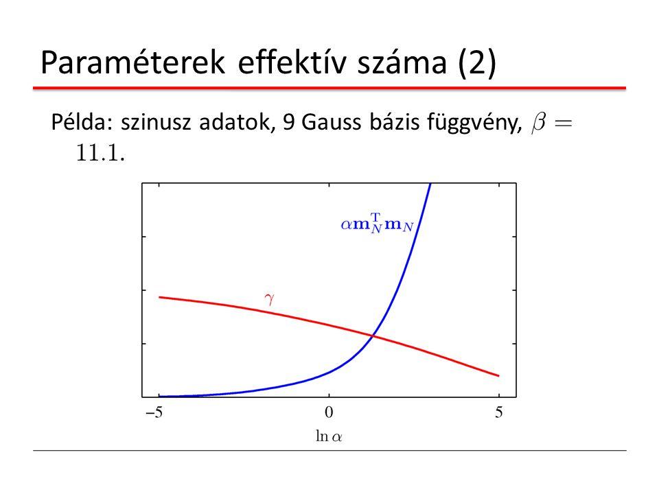 Paraméterek effektív száma (2)