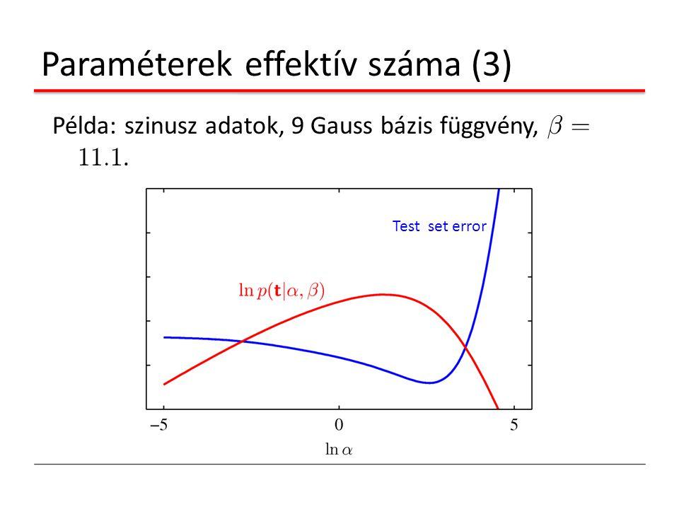 Paraméterek effektív száma (3)