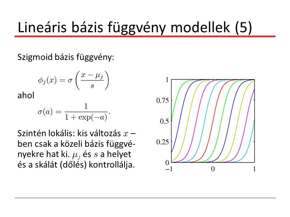 Lineáris bázis függvény modellek (5)