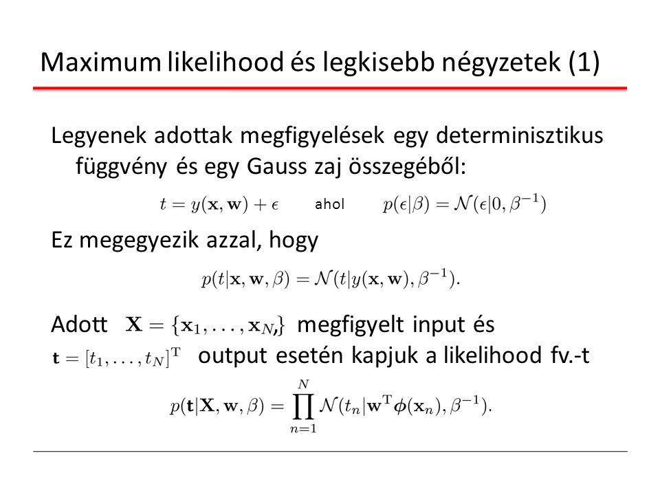 Maximum likelihood és legkisebb négyzetek (1)